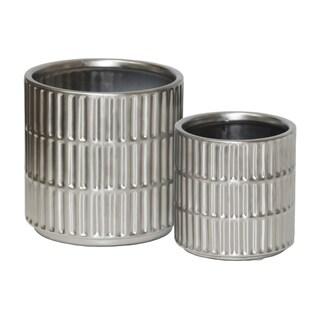 UTC45911 Ceramic Pot Matte Finish Silver