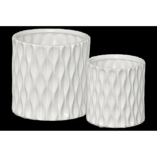 UTC45912 Ceramic Pot Matte Finish White