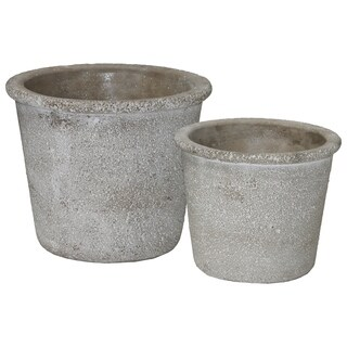 UTC51113 Cement Pot Concrete Rough Finish Gray
