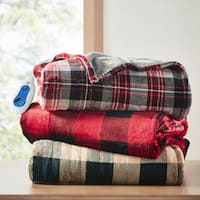 True North by Sleep Philosophy Buffalo Check Oversized Printed Heated Plush Throw