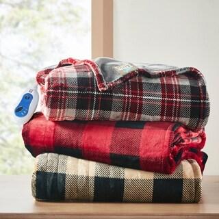 True North by Sleep Philosophy Buffalo Check Oversized Printed Heated Plush Throw