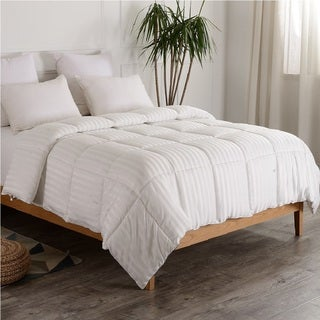 Cheer Collection Alternative Down Striped Comforter - Assorted Colors
