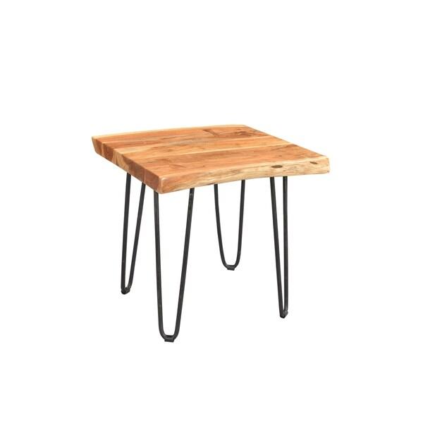 "Handmade Mojave Mid-Century Modern End Table - 25"" x 24"" x 24"" (India)"
