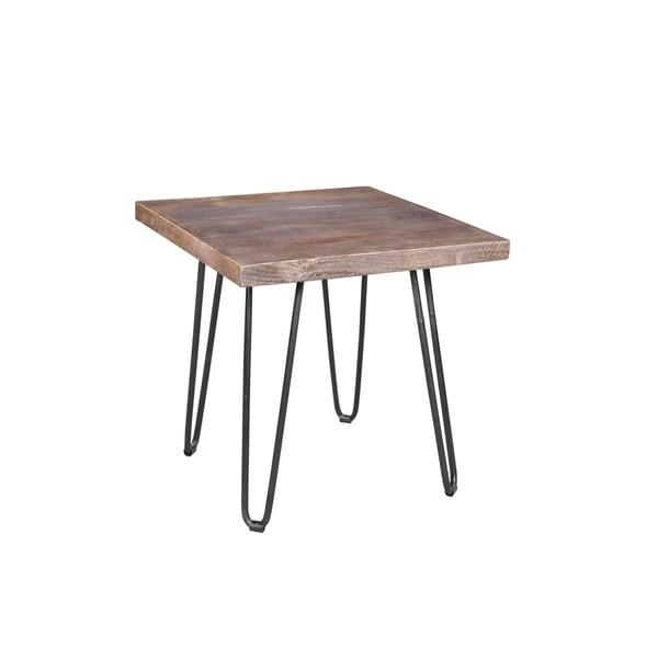 "Handmade Portland Mid-Century Modern End Table - 24"" x 24"" x 24"" (India)"