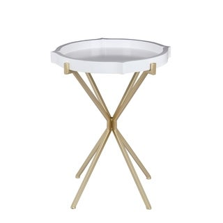 Accent Table - Glossy White