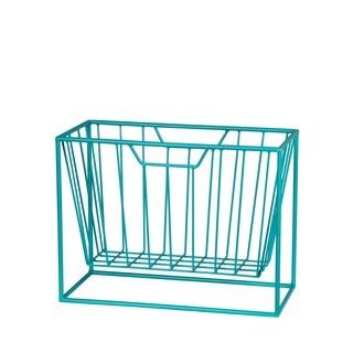 Iron Magazine Rack - Blue
