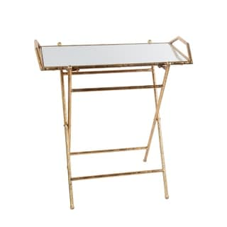 Folding Tray Table   Gold Leaf