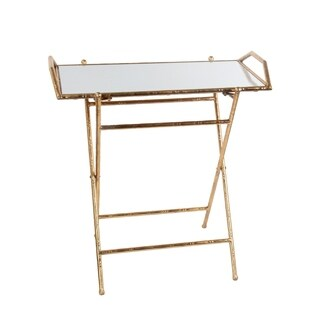 Folding Tray Table - Gold Leaf