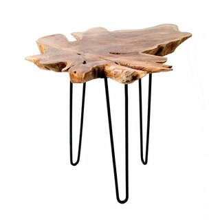 Privilege Teak Root Top Large Accent Table
