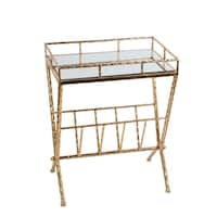 Magazine Rack - Gold Leaf