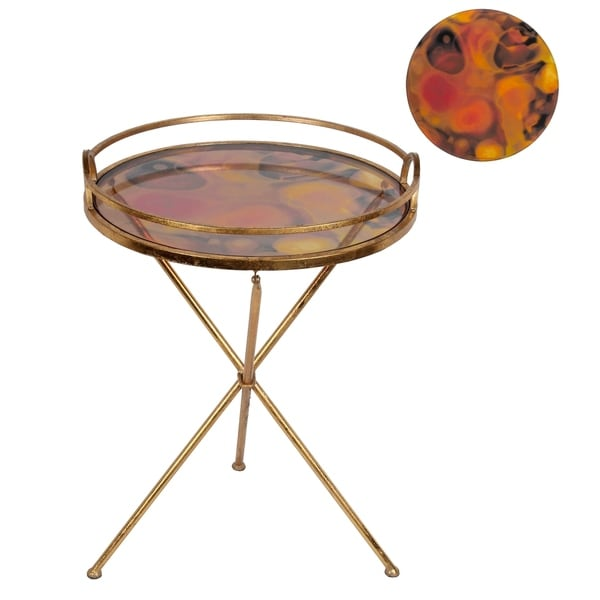 Accent Table - Colored Glass
