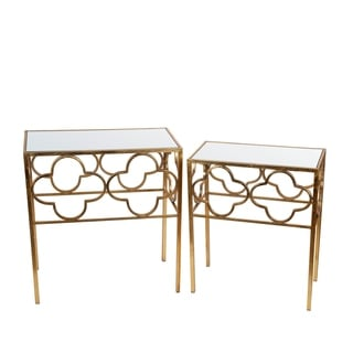 2 Pc Acct Tables - Gold Leaf