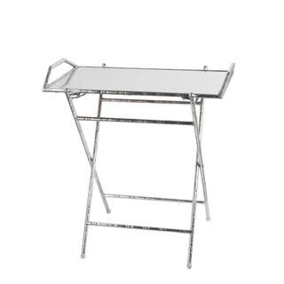 Folding Tray Table - Silver Leaf