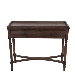 2 Draw Console Table - British Brown