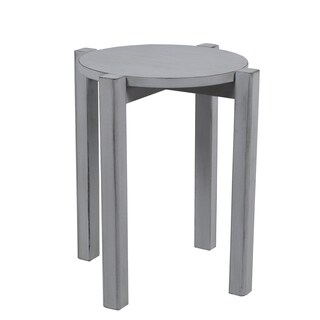 Stackable Accent Stool - Smoke Ash