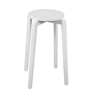 Stackable Accent Stool - Pure White