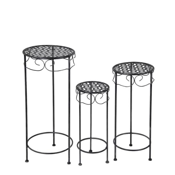 3Pc Plant Stands - Round