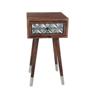 1 Dr Accent Table - Wood Iron