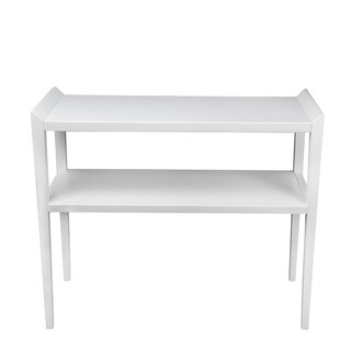 2 Tier Accent Console   Pure White