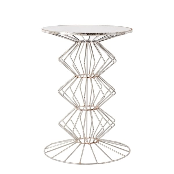 Iron Wire Table With Glass Top - Free Shipping Today - Overstock ...