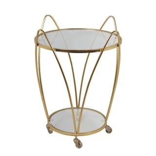 Iron Accent Cart - Gold Leaf