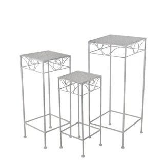 3 Pc Iron Plant Stands - Square