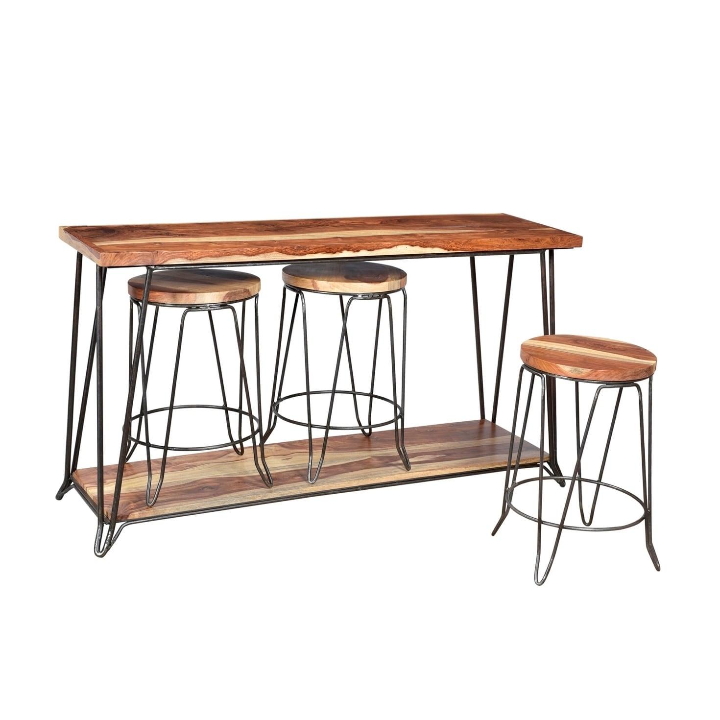 Tremendous Console Table 3 Stools Lamtechconsult Wood Chair Design Ideas Lamtechconsultcom