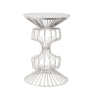 Iron Wire Table With Glass Top