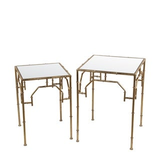 2 Pc Accent Stands - Gold Leaf