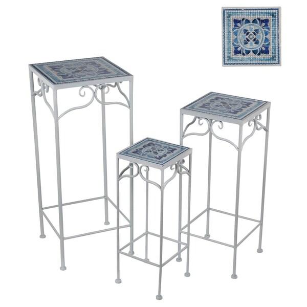 3 Pc Sq Plt Stands - Tile