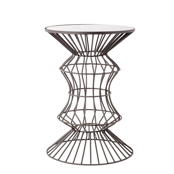 Shop Iron Wire Table With Glass Top