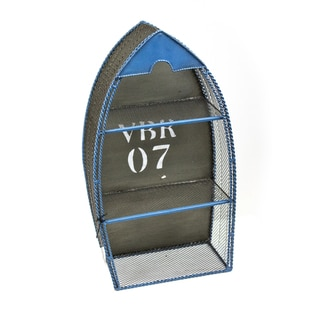 Sagebrook Home-Wooden Boat Wall Décor, Blue