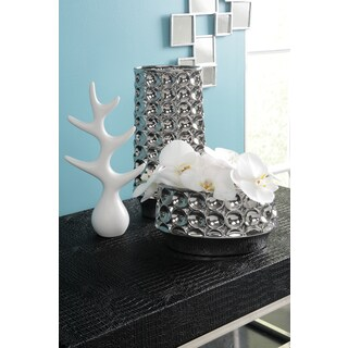 Sagebrook Home-Ceramic Modern Tree Decor Décor, Matte White