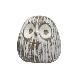 Sagebrook Home-Owl Face Décor, White
