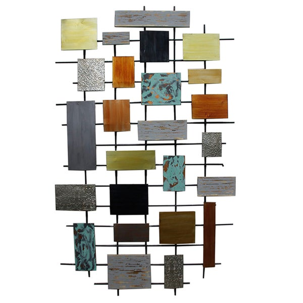 Shop Sagebrook Home-Geo Wall Décor, Multicolor - Free Shipping Today ...