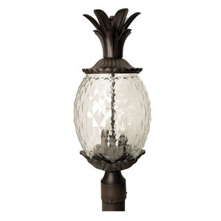 Acclaim Lighting Lanai Collection Post-Mount 3-Light Outdoor Black Coral Light Fixture