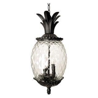 Acclaim Lighting Lanai Collection Hanging Lantern 3-Light Outdoor Matte Black Light Fixture