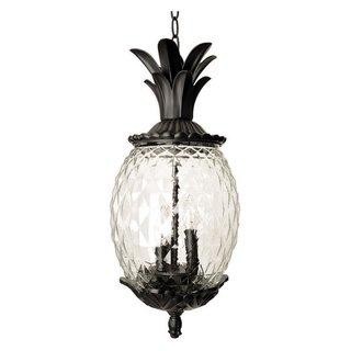 Acclaim Lighting Lanai Collection Hanging Lantern 3-Light Outdoor Black Coral Light Fixture