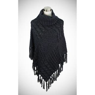 Two-tone cable knit turtleneck poncho in luxurious weight|https://ak1.ostkcdn.com/images/products/17934317/P24114148.jpg?impolicy=medium