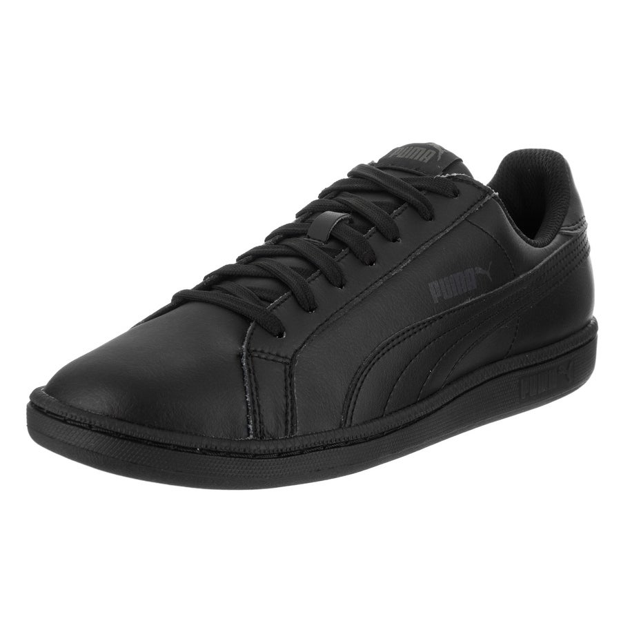 Puma Men's Puma Smash L Casual Shoe (9), Black (leather)