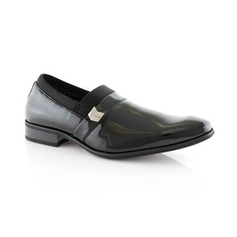 Delli Aldo Jeffrey M19238PPL Men's Dress Shoes for Work or Party