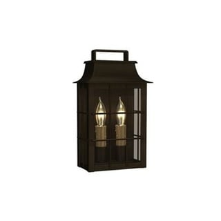 Fifth and Main Shirehill 2 Light Charred Iron Outdoor Wall Sconce