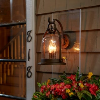Fifth and Main North Haven 3 Light Bronze Outdoor Wall Sconce