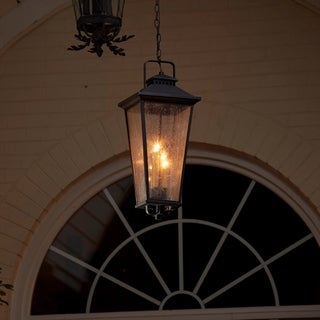 Fifth and Main Parsons Field 4 Light Antique Iron Outdoor Pendant