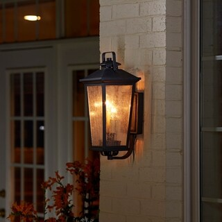 Fifth and Main Parsons Field 2 Light Antique Iron Outdoor Wall Sconce