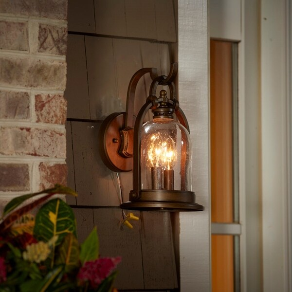 Shop Fifth and Main North Haven 2 Light Bronze Outdoor Wall Sconce ...