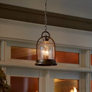 Fifth and Main North Haven 3 Light Bronze Outdoor Pendant
