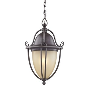 Fifth and Main Portage 1 Light Bronze Outdoor Pendant