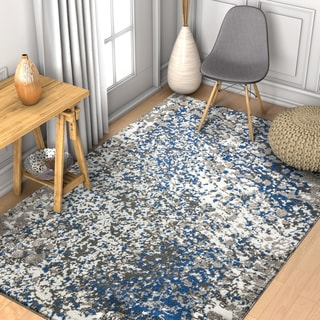 "Well Woven Abstract Modern Blue Area Rug - 3'3"" x 4'7"""