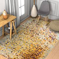 """Well Woven Modern Yellow Abstract Area Rug - 5'3"""" x 7'3"""""""